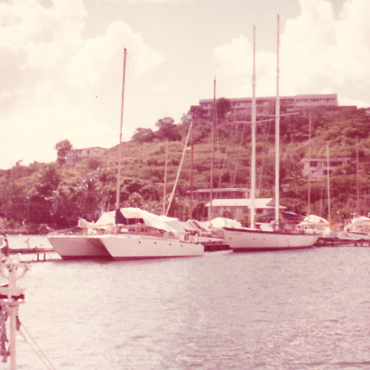 A collection of Marijuana SMuggling ships at port in the early 70's