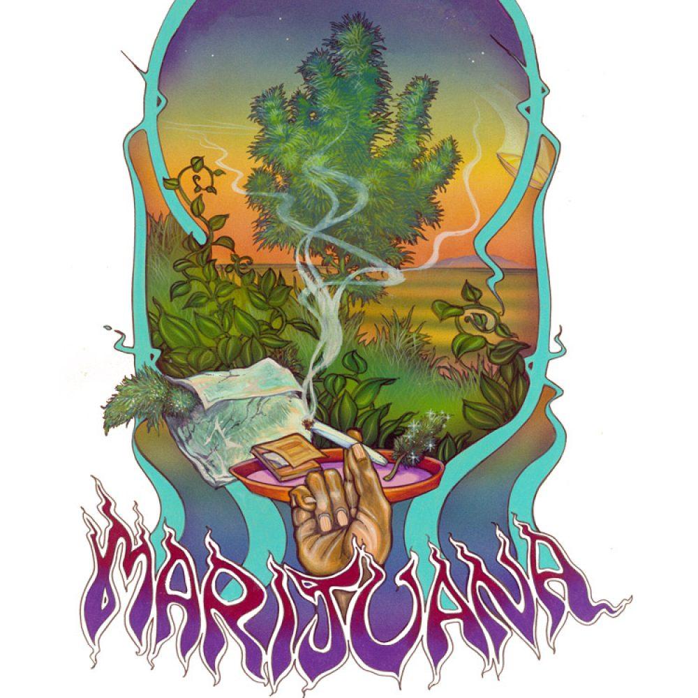 Marijuana Poster Vintage Marijuana Artwork Ganja Outpost