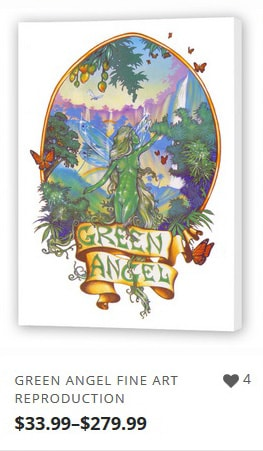 Green Angel Fine Art from Ganja Outpost