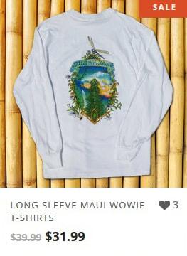 Maui Wowie Longsleeve Marijuana T-shirt from Ganja Outpost