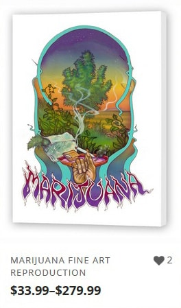 Marijuana Artwork Reproductions from Ganja Outpost