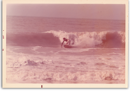 Early 70's surfing.