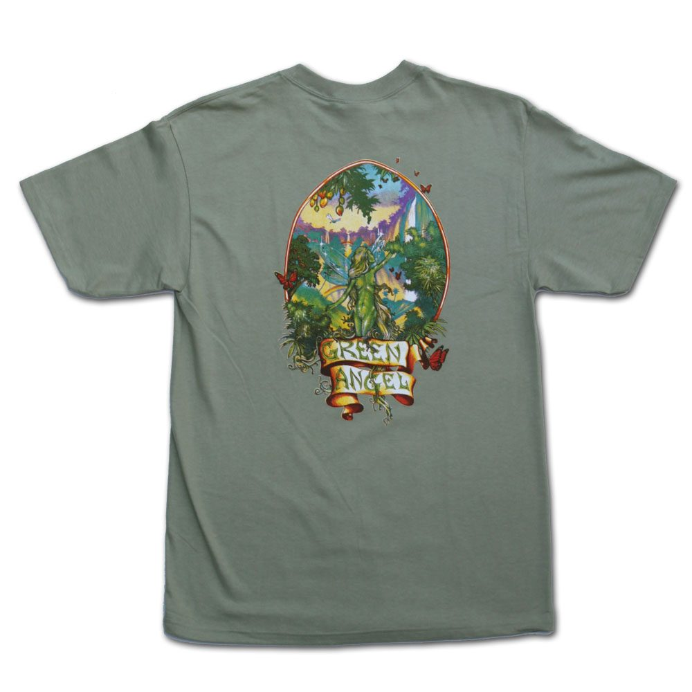 Green Angel Marijuana Tshirt in Green