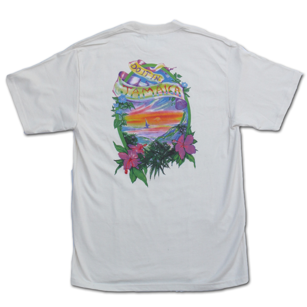 Do it in Jamaica Natural Short Sleeve Weed Tshirt