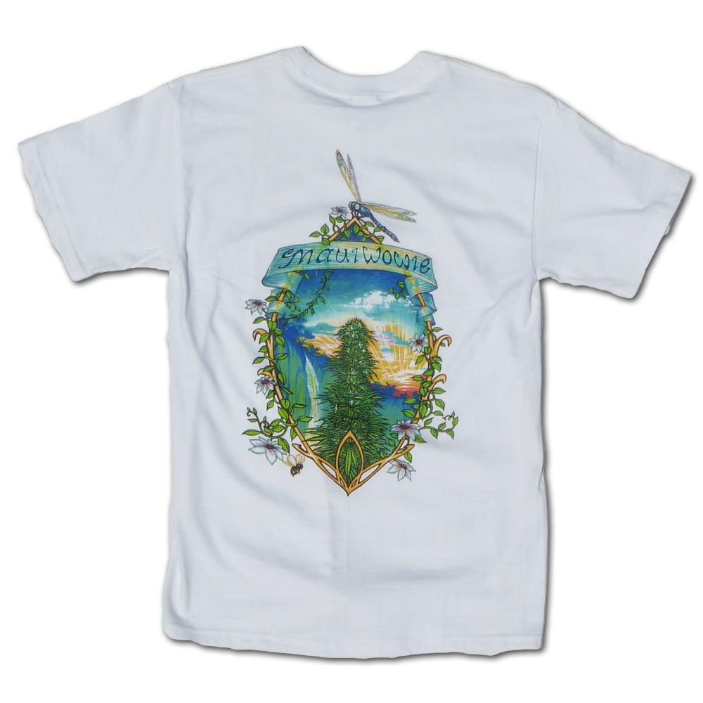 Maui Wowie Marijuana Tshirt in White Short Sleeve