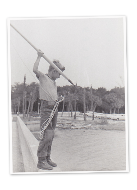 A young Skip Steele on the native Florida Waterways