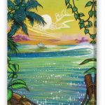 Caribbean Sunset Fine Art Reproduction with Mirrored FInish