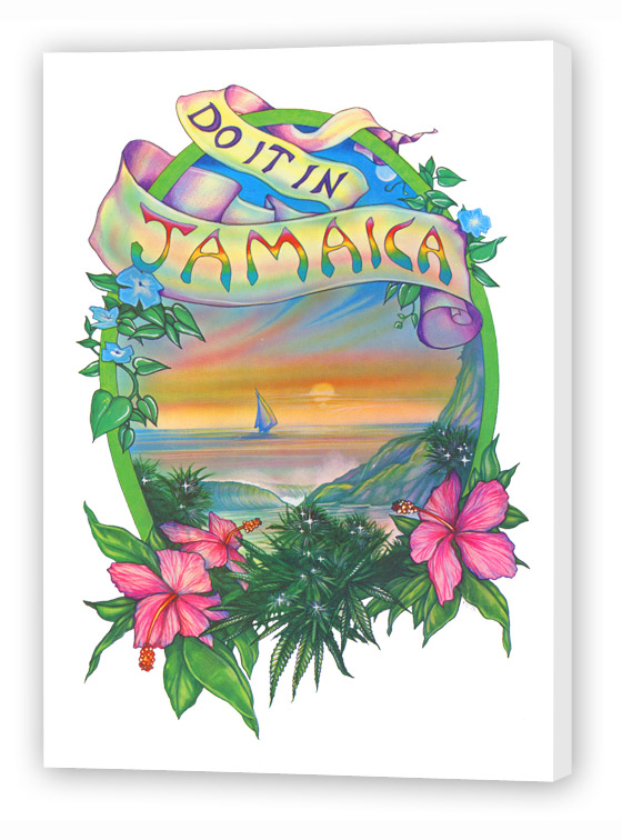 Enjoy the Do it in Jamaica marijuana fine art reproduction from Ganja Outpost