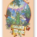 Green Angel Fine Art Reproduction, Smoke on Stretched Canvas