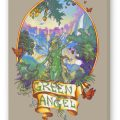 Green Angel Fine Marijuana Art Reproduction, Smoke on Stretched Canvas