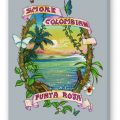 Smoke Colombian Fine Art Reproduction, Slate on Stretched Canvas