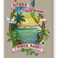 Smoke Colombian Fine Art Reproduction, Smoke on Stretched Canvas