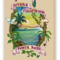 Smoke Colombian Fine Art Reproduction, Tan on Stretched Canvas