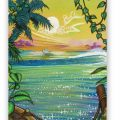 Caribbean Sunset Fine Art Reproduction on Rolled Canvas or Archival Paper