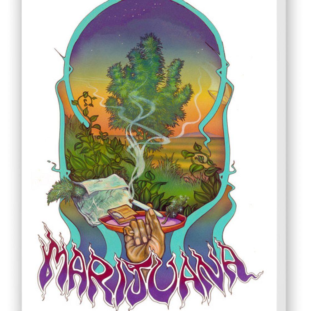 Enjoy fine marijuana art with the marijuana artwork from Ganja Outpost.