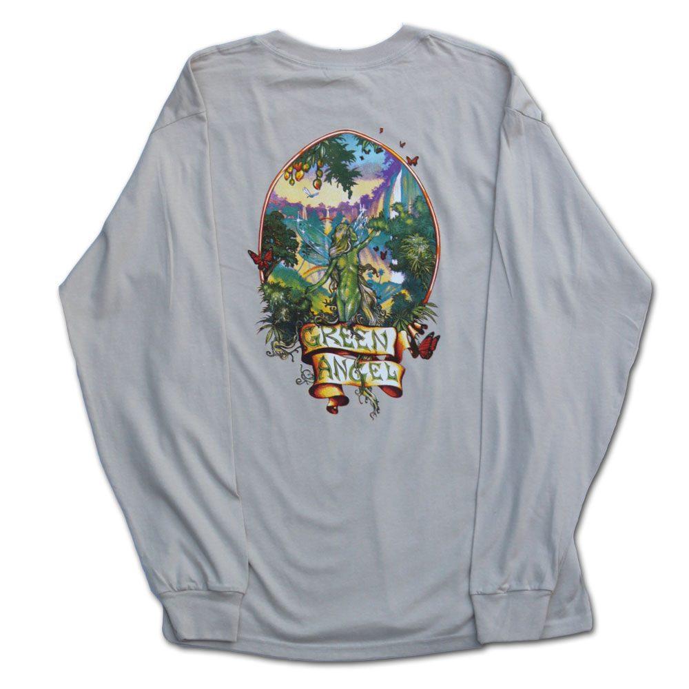 Green Angel Marijuana Shirt in Longsleeve