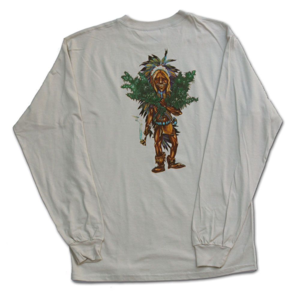 The Grower Marijuana Shirt - Long Sleeve Brown