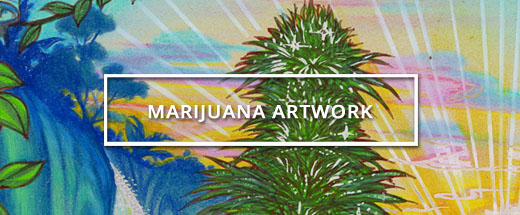 Vintage Marijuana Artwork from Ganja Outpost