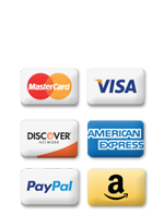 We provide multiple secure payment options for your online orders including Visa, Mastercard, Amex, & Paypal