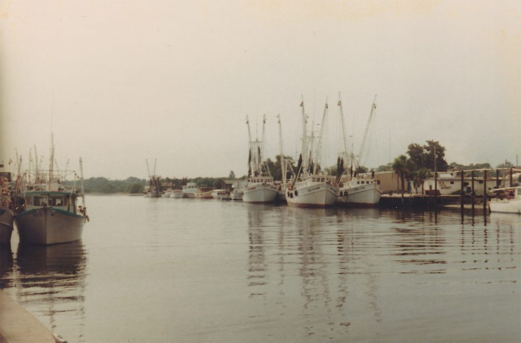 Pot Smuggling Shrimpers at Port in the Early 70's