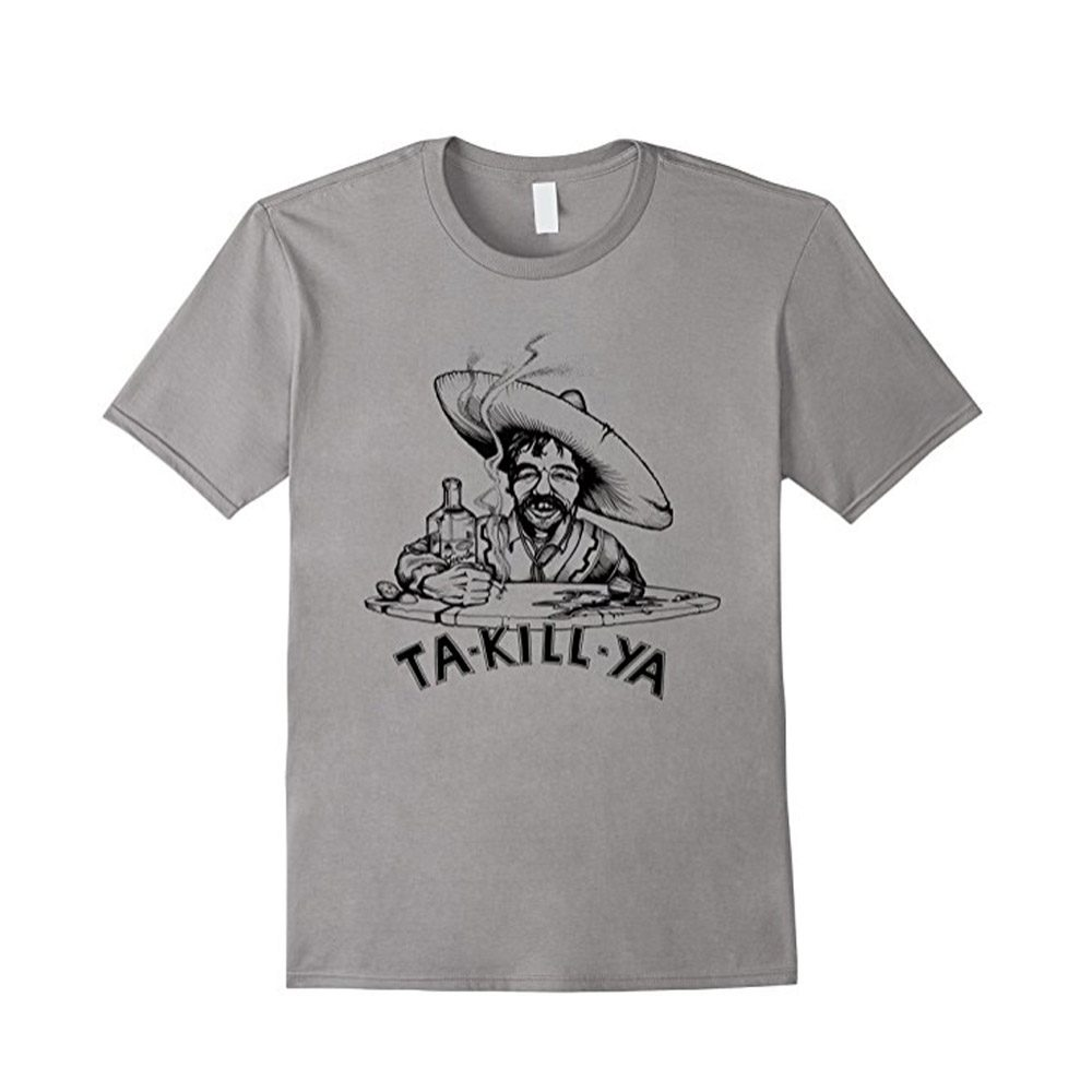 Ta Kill Ya Tshirt on Slate sold exclusively from Outpost Clothing on Amazon