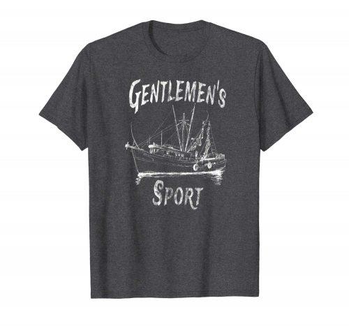An image of a dark heather Gentlemen's Sport pot smuggling t-shirt from GanjaOutpost.com
