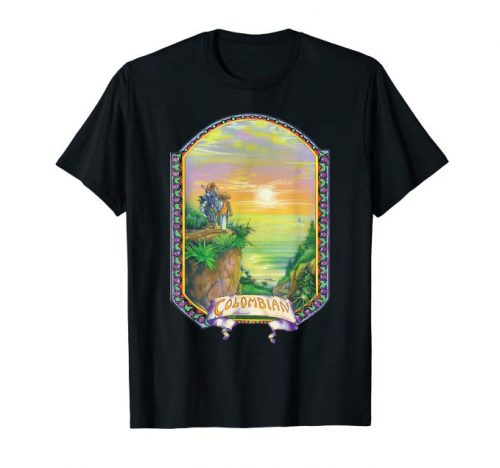 Image of a black colored Colombian Gold Vintage Marijuana T-shirt from Ganja Outpost