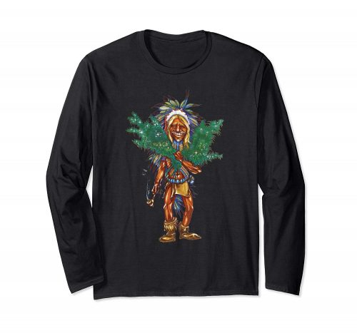An image of a black cannabis grower long sleeve t-shirt from Ganja Outpost.