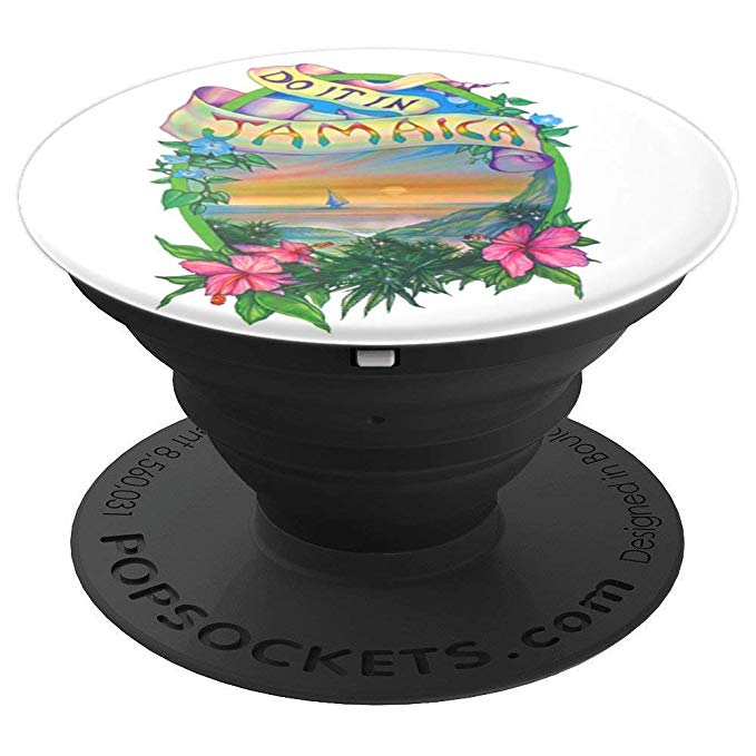Expanded view of the Do it in Jamaica Marijuana inspired popsocket from Ganja Outpost