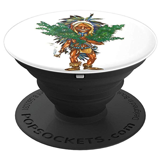 Expanded view of the Cannabis Grower Popsocket for Phones & Tablets from Ganja Outpost