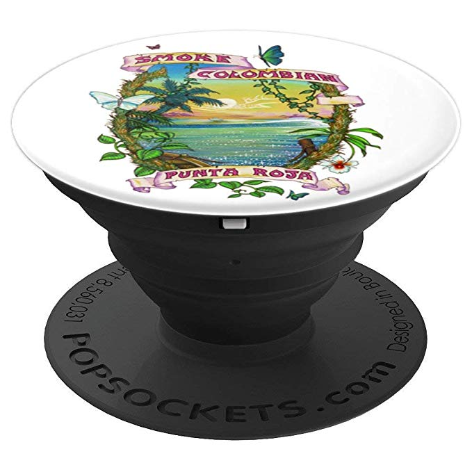 Expanded view of Smoke Colombian Popsocket for phones and tablets.