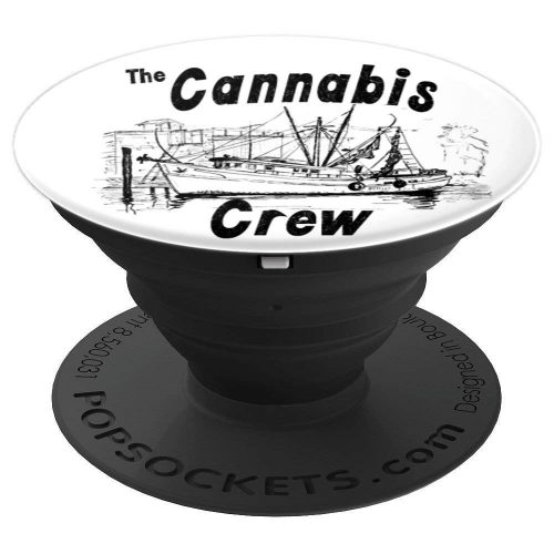A expanded view of the Cannabis Crew Popsocket from Ganja Outpost