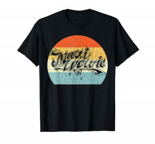 An image of the vintage maui wowie sun design in black from Ganja Outpost.