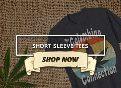 An image of a link to the short sleeve t-shirts available on Ganja Outpost.